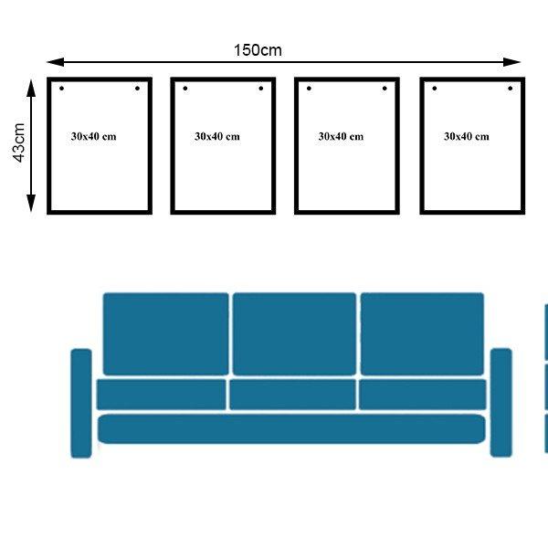 Sơ đồ thiết kế bộ 4 khung ảnh treo tường KAD401