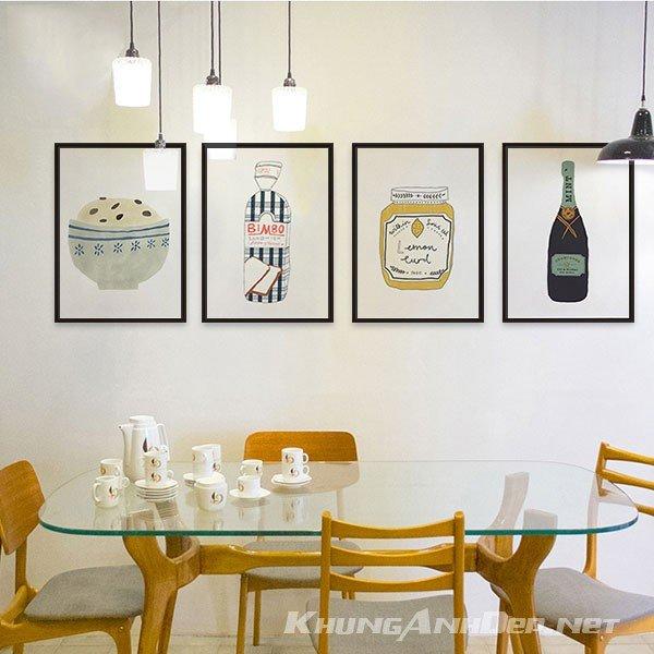 Bộ khung ảnh treo tường quán Cafe, Trà Sữa KAD401